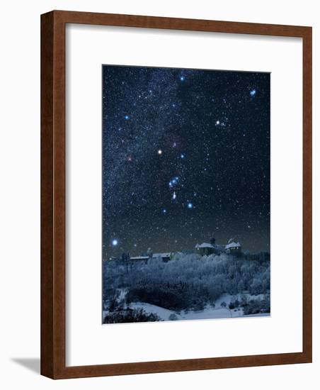 Winter Sky with Orion Constellation-Eckhard Slawik-Framed Photographic Print