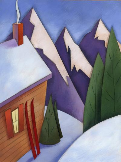 Winter Snow around Ski Lodge--Photo