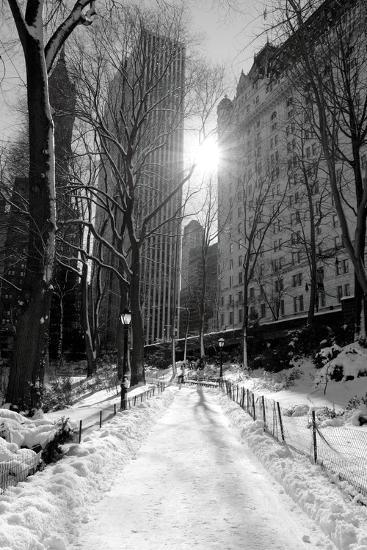 Winter Snow in Central Park, New York City-Zigi-Photographic Print