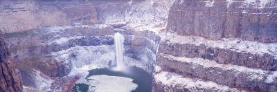 Winter Snow in the Palouse Falls, Washington, USA-Terry Eggers-Photographic Print