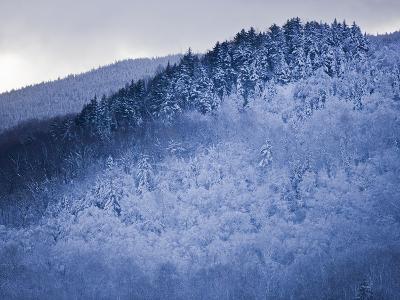 Winter Snow Whitens Mount Van Hoevenberg-Michael Melford-Photographic Print