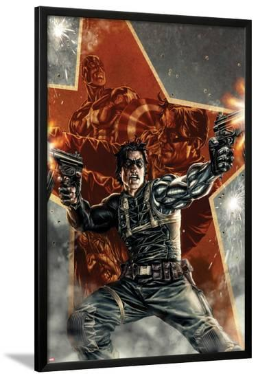 Winter Soldier No.1 Cover with Captain America-Lee Bermejo-Lamina Framed Poster