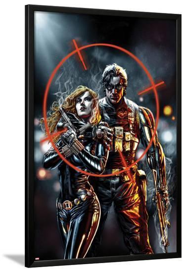 Winter Soldier No.2 Cover-Stuart Immonen-Lamina Framed Poster