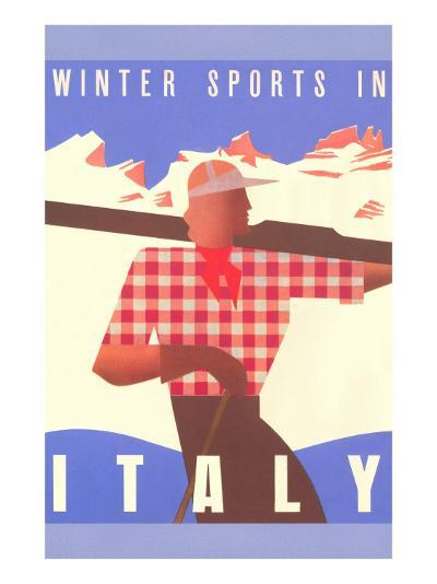 Winter Sports in Italy, Graphics--Art Print