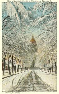 Winter, State Capitol, Denver, Colorado