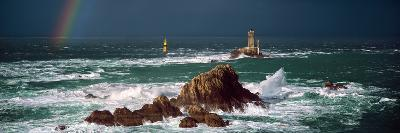 Winter Storm Weather at La Vieille Lighthouse, Finistere, Brittany, France--Photographic Print