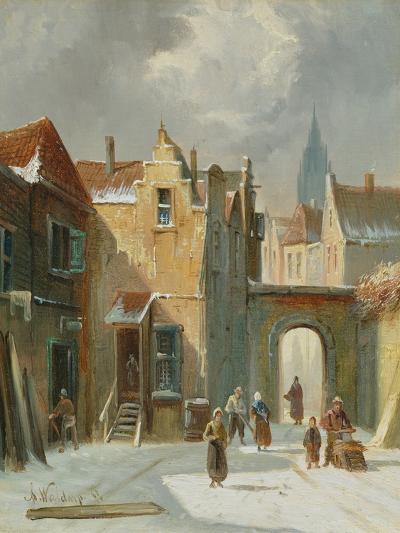 Winter Street Scene-Anthonie Waldorp-Giclee Print