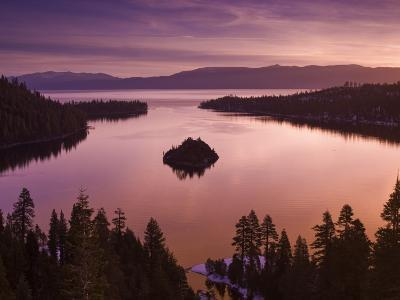 Winter Sunrise at Emerald Bay, Lake Tahoe-Witold Skrypczak-Photographic Print