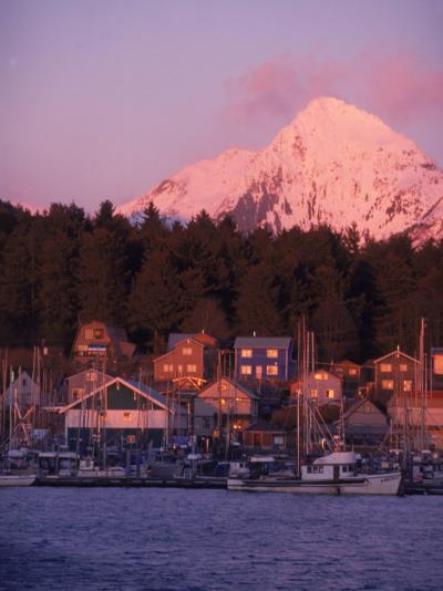 Winter Sunset on an B Harbor, Sitka Alaska-Ernest Manewal-Photographic Print