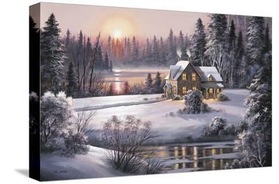Winter Sunset-Dubravko Raos-Stretched Canvas Print