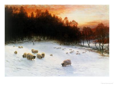 Winter Sunset-Joseph Farquharson-Giclee Print