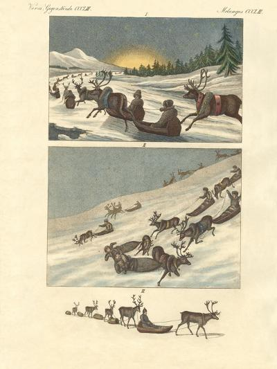 Winter Trips in Lapland--Giclee Print