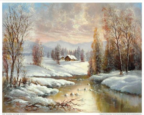 Winter Twilight-Helmut Glassl-Art Print