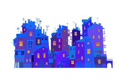 Winter Urban Facades-polinina-Art Print