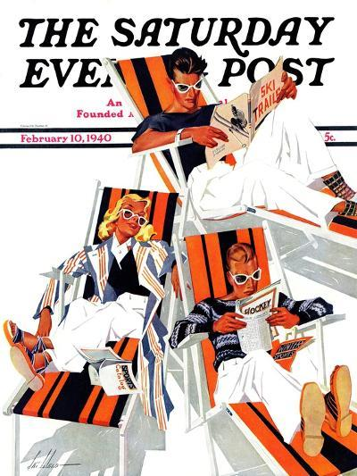 """""""Winter Vacation,"""" Saturday Evening Post Cover, February 10, 1940-Ski Weld-Giclee Print"""