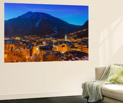 Winter View at Dusk over Andorra La Vella, Andorra-Stefano Politi Markovina-Wall Mural