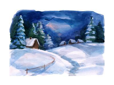 Winter Village-okalinichenko-Art Print
