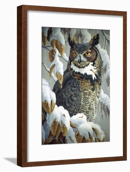 Winter Watch - Great Horned Owl-Wilhelm Goebel-Framed Giclee Print
