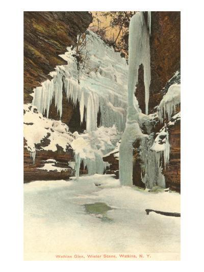 Winter, Watkins Glen, New York--Art Print