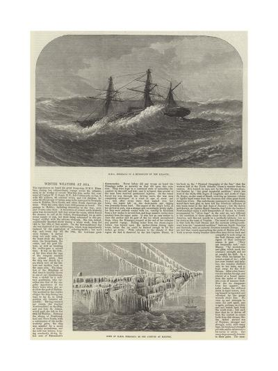 Winter Weather at Sea--Giclee Print