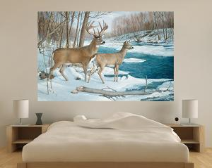 Winter Whitetail Deer (Indoor/Outdoor) Vinyl Wall Mural