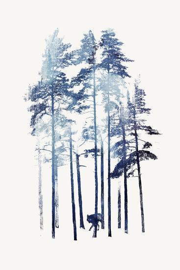 Winter Wolf-Robert Farkas-Giclee Print