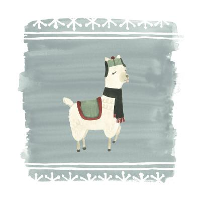 Winter Wonder Llama I-June Erica Vess-Art Print