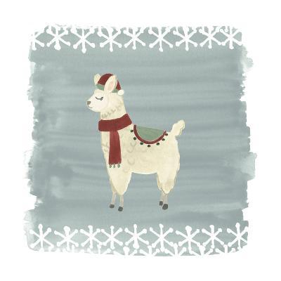 Winter Wonder Llama II-June Erica Vess-Art Print