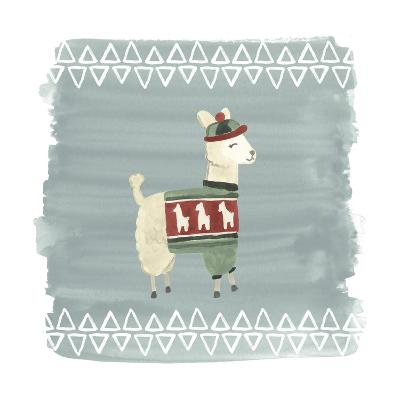 Winter Wonder Llama III-June Erica Vess-Art Print