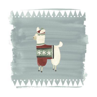 Winter Wonder Llama IV-June Erica Vess-Art Print