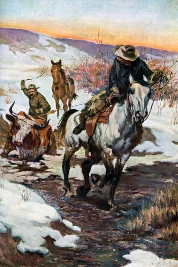 Winter Work for the Cowboys, 1906 (1908-190)--Giclee Print