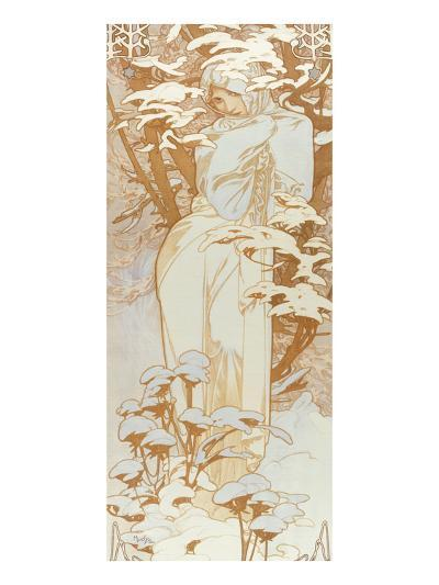 Winter-Alphonse Mucha-Giclee Print