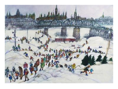 Winterlude, Pirovik - Ottawa-Hull, Canada-Franklin McMahon-Giclee Print