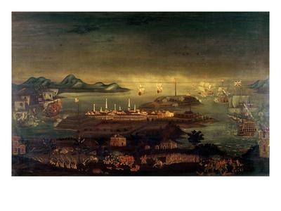 Battle of Bunker Hill, 17th June 1775 (Oil)