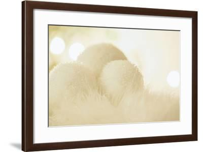 Wintry Background with Stylised Snowballs-Petra Daisenberger-Framed Photographic Print