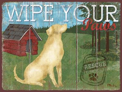 Wipe Your Paws-Paul Brent-Art Print