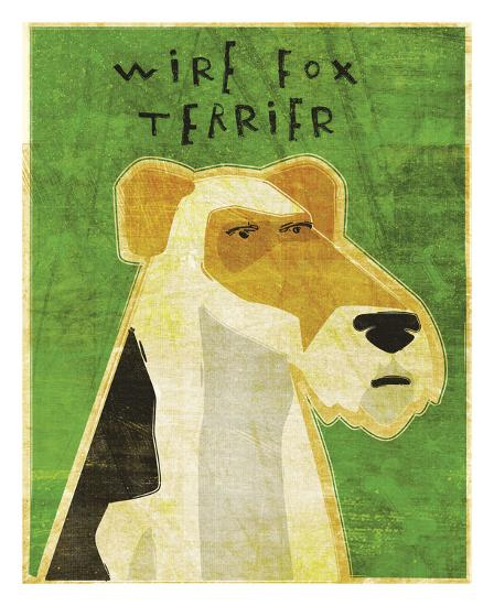 Wire Fox Terrier-John W^ Golden-Art Print
