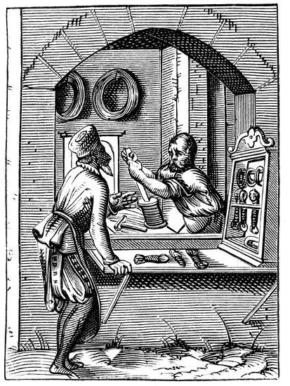 Wire Worker, 16th Century-Jost Amman-Giclee Print