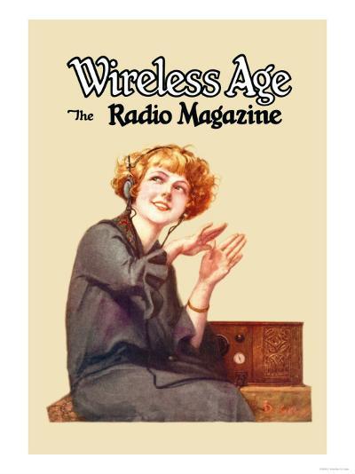 Wireless Age: The Radio Magazine-D^ Gross-Art Print