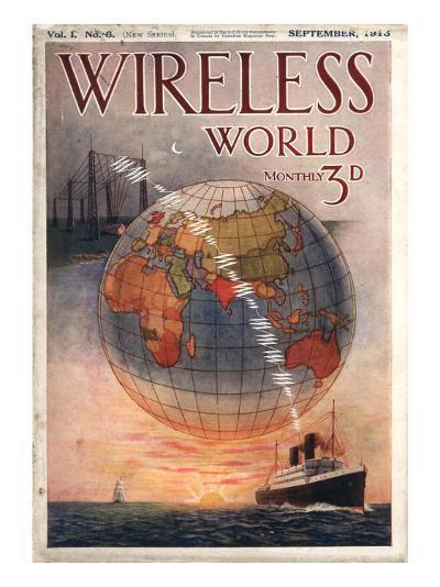 Wireless world, Radios Magazine, UK, 1916--Giclee Print