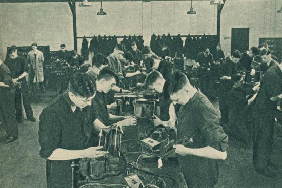 Wirless Operator Mechanics' Workshop, 1940-Unknown-Photographic Print