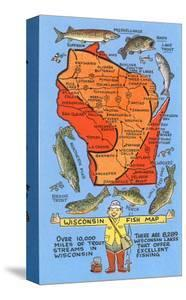 Wisconsin Fish Map