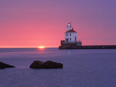 Wisconsin Point Lighthouse, WI-Ken Wardius-Photographic Print