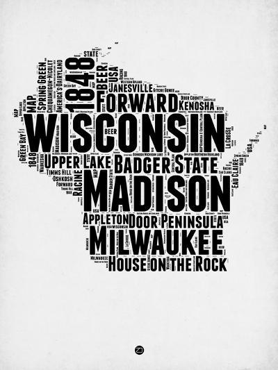 Wisconsin Word Cloud 2-NaxArt-Art Print