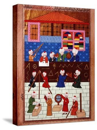 Wise Men and Astronomers in the Galata Observation Tower, Ottoman Minature, 16th century