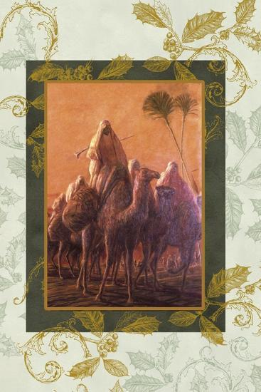 wise men coming to see jesus on camels-Maria Trad-Giclee Print