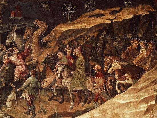 Wise Men on their Way to Bethlehem, Circa 1420-Giovanni Da Modena-Giclee Print