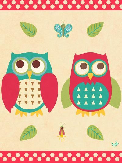 Wise Owls II-Andi Metz-Premium Giclee Print