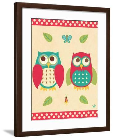 Wise Owls II-Andi Metz-Framed Premium Giclee Print
