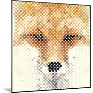 Fox Portrait Made of Geometrical Shapes by Wision